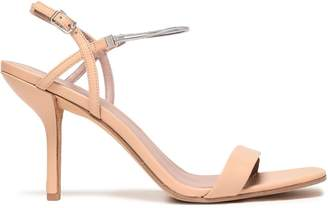Diane von Furstenberg Frankie Chain-trimmed Leather Slingback Sandals