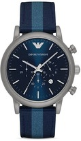 Emporio Armani Blue Strap Watch, 46mm