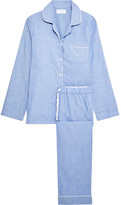 Three J NYC Jamie Cotton-flannel Pajama Set - Blue