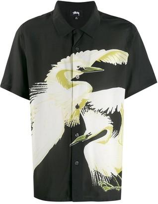 Stussy bird print shirt