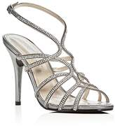 Caparros Helena Embellished Metallic Satin High Heel Sandals