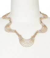 Cezanne Multiple Rhinestone Weave Necklace