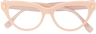 Fendi Eyewear Clear Cat-Eye Glasses