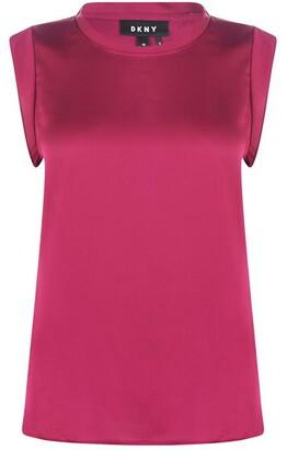 DKNY Flutter Cap Sleeve Shirt