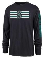 '47 Seattle Mariners Men's Cross Stripe Long Sleeve T-Shirt