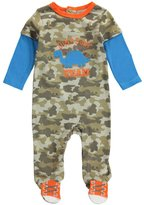 "Buster Brown Baby Boys' ""Dinosaur Team"" Footed Coverall"