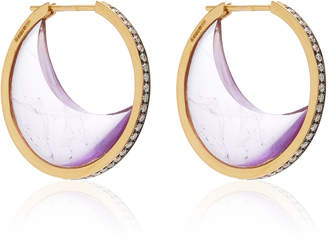 Noor Fares 18K Yellow Gold Chandra Crescent Earrings