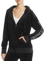 Juicy Couture Black Label Gothic Embellished Velour Hoodie