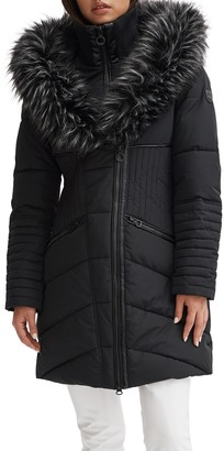 Noize Faux Fur Trimmed Quilted Parka