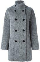 Kenzo 'NY Stripes' coat - women - Cotton/Polyamide/Acetate/Virgin Wool - 38