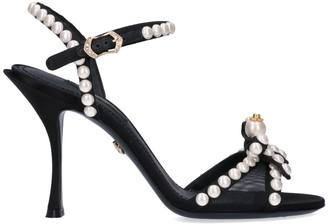 Dolce & Gabbana Pearl Straps Sandals