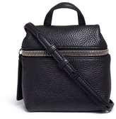 Kara Micro leather crossbody satchel