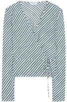 Carven Striped silk blouse