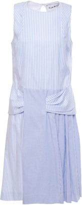 Carven Paneled Striped Cotton-poplin Dress