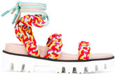 RED Valentino woven sandals - women - Leather/Polyester/rubber - 35