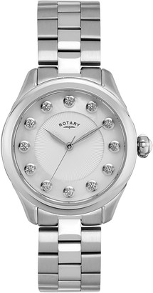 Rotary Women's Analogue Classic Quartz Watch with Stainless Steel Strap LB009/W/41