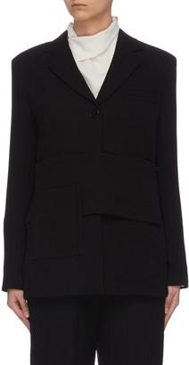 3.1 Phillip Lim Asymmetric panelled blazer