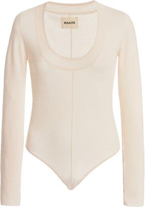 KHAITE Clover Merino Wool Bodysuit