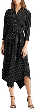 Ralph Lauren Ralph Pinstriped Faux-Wrap Dress
