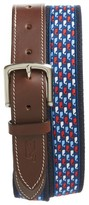 Vineyard Vines Men's Whale Print Canvas Belt
