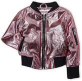 Urban Republic Toddler Girls) Pink Foil-Effect Bomber Jacket