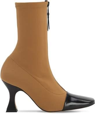 Miista 80mm Olga Zip-up Neoprene Sock Boots