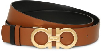 Salvatore Ferragamo Gancini Reversable and Adjustable tan belt