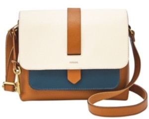 Fossil Kinley Small Colorblock Leather Crossbody