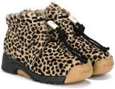 Bumper leopard pattern boots