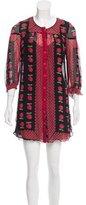 Anna Sui Fruit Print Silk Dress
