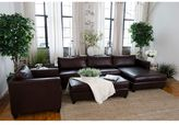Elements Fine Home Furnishings Urban 3-Piece Top Grain Leather Collection (Left Arm Loveseat, Right Arm Chaise, Standard Chair, Rectangle Cocktail Ottoman)