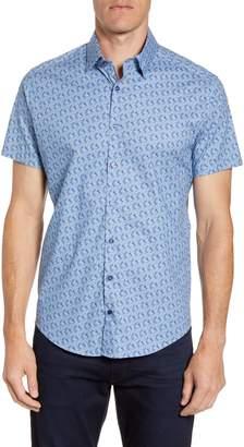 Stone Rose Regular Fit Short Sleeve Button-Up Sport Shirt