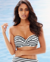 Soma Intimates Stripes Bandeau Underwire Bra Cup Sized Bikini Swim Top