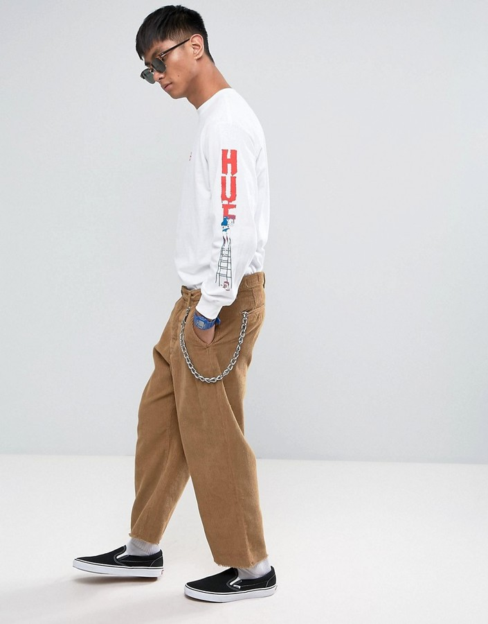 HUF Long Sleeve T-Shirt With Ladder Sleeve Print
