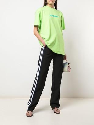 Vetements Black And Blue Side Stripe Pants
