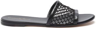 Gianvito Rossi Fishnet mesh flat slides