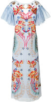 Temperley London Porcelain flared sleeved dress