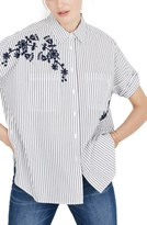 Madewell Women's Embroidered Courier Shirt