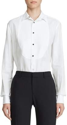 Ralph Lauren Marlie Bibbed Tuxedo Shirt