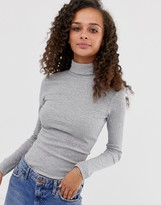 Brave Soul adrian roll neck top