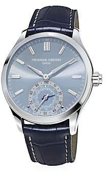 Frederique Constant Men's Horological Stainless Steel & Leather Strap Smartwatch