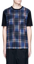 Lanvin Overdyed check plaid front T-shirt