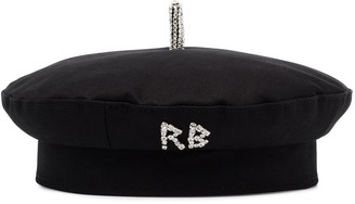 Ruslan Baginskiy Crystal-Logo Cotton Beret