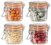Oggi 4 Piece Airtight Glass Canister Set with Clamp Lids and Silicone Gaskets