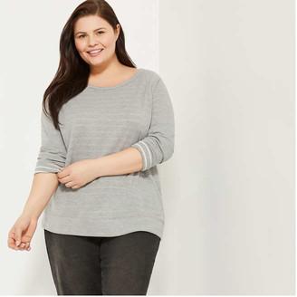 Joe Fresh Women+ Wide Neck Sweatshirt, Grey (Size 2X)