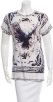 Balmain Printed Scoop Neck T-Shirt