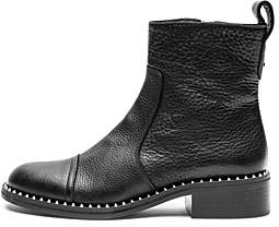 Zadig & Voltaire Women's Empress Clous Round Toe Leather Low-Heel Booties