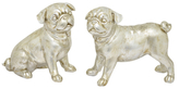 Three Hands Dog Figures (Set of 2)