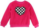 Little Marc Jacobs Faux Fur Heart Sweatshirt