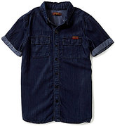 7 For All Mankind Big Boys 8-20 Short-Sleeve Woven Shirt